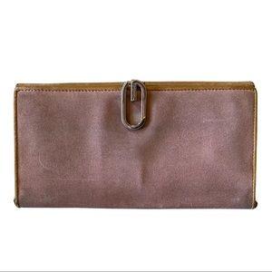 Vintage Pink Gucci Suede Wallet-**